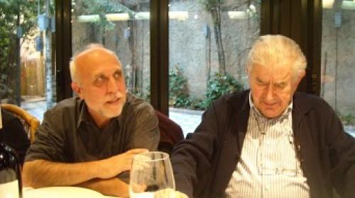 Antonio Gamoneda y Julio González Alonso