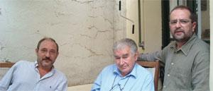 Rafel Calle, Antonio Gamoneda y J. J. M. Ferreiro.