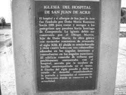 ruinas del antiguo hospital de peregrinos de san Juan de Acre- Navarrete
