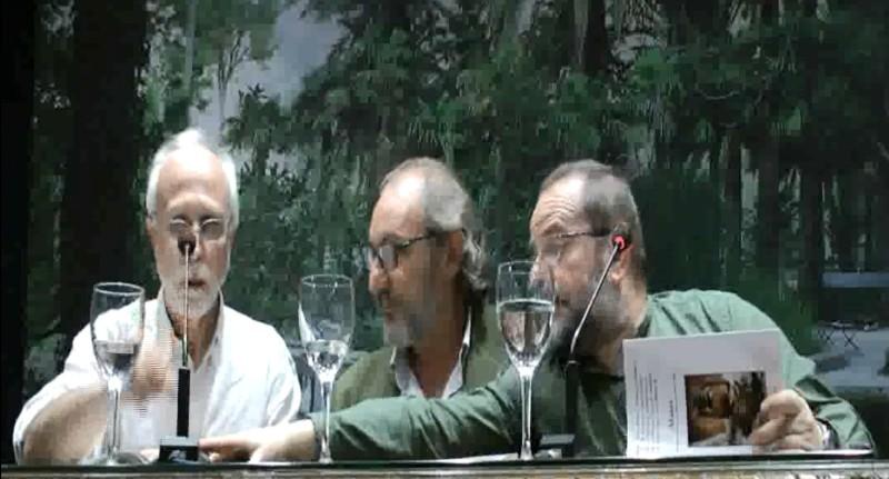 Julio, Rafel, Ferreiro, en la presentación de la antología Alaire 2016